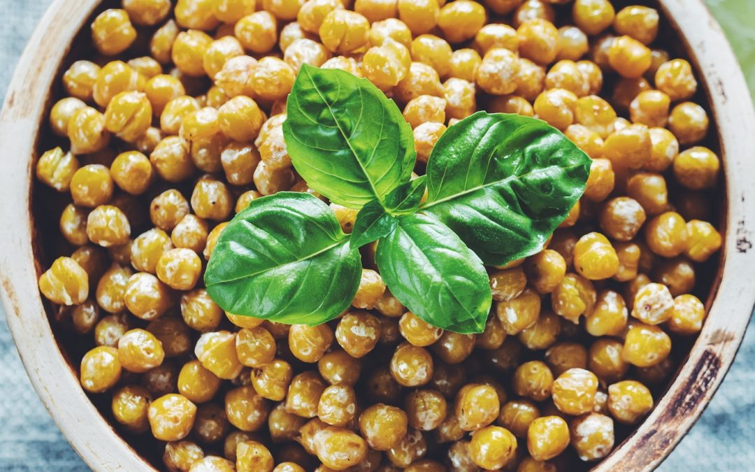 Oven baked chickpeas