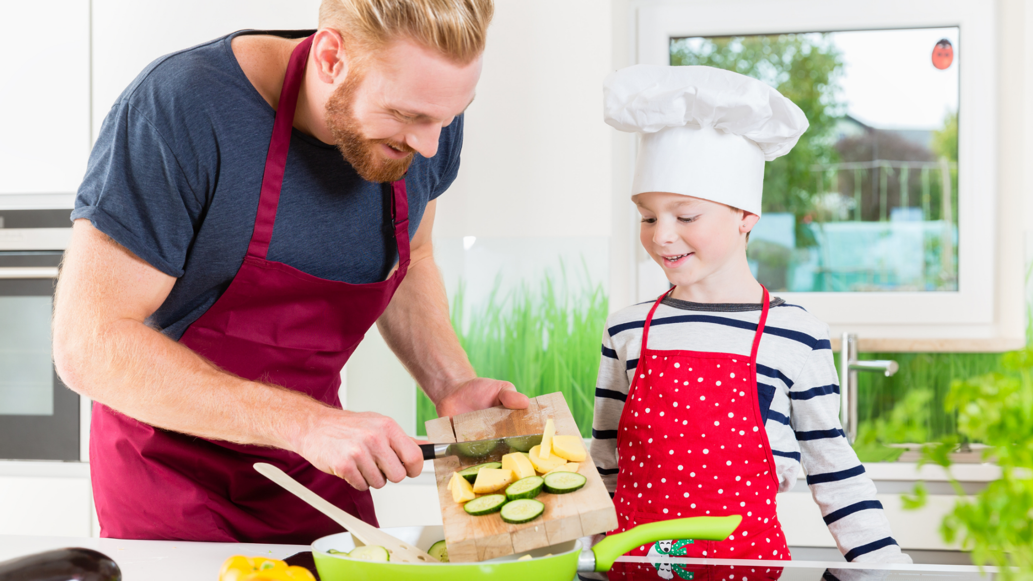 A father embracing changes in their family's diet to reduce his son's ADHD symptoms.